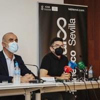 BIENAL l Antonio Muñoz, delegado de Cultura y Chema Blanco, director de la Bienal© Óscar Romero