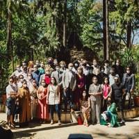 Foto familia. Artistas de la  XXI Bienal de Flamenco